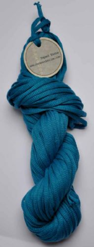 Turquoise cotton Chunky Tape yarn 100g skein